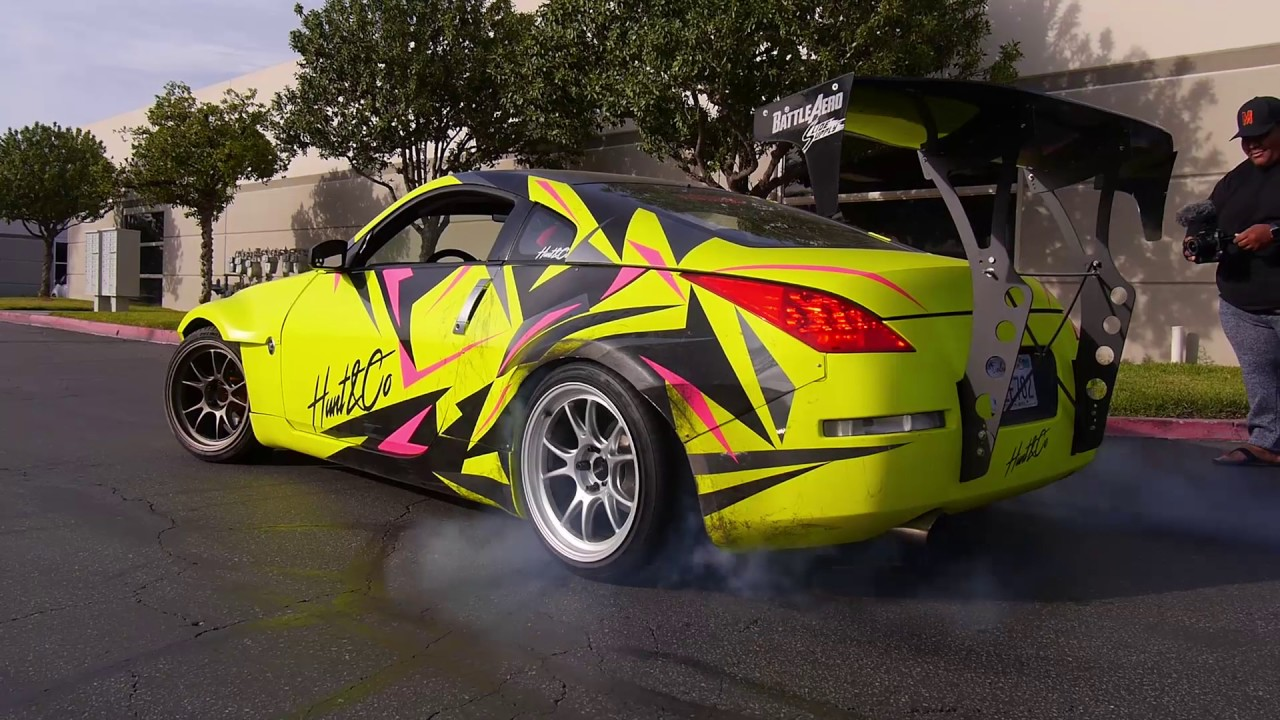 TJ & Calvin Visit Our New Shop | 350z Burnout - YouTube