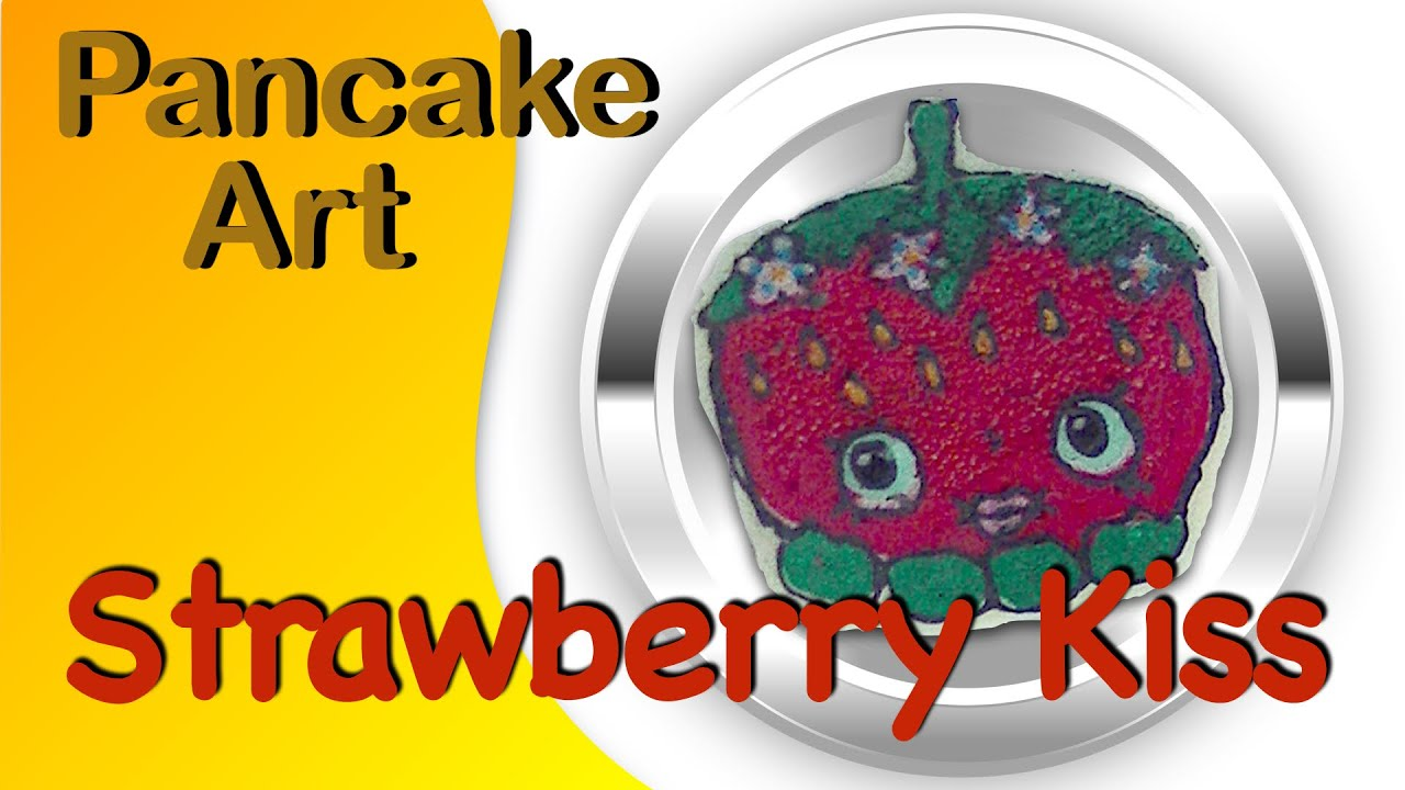Pancake Art - Shopkins Strawberry Kiss