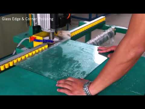 Grinding and polishing of glass edges and corners