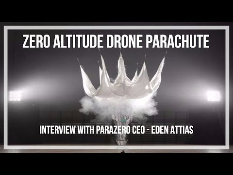 Drone  - UAS Parachutes! Interview with Parazero CEO - Interdrone 2017 uav