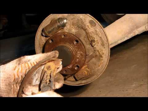 замена передних тормозных дисков и колодок toyota camry 30 40 50