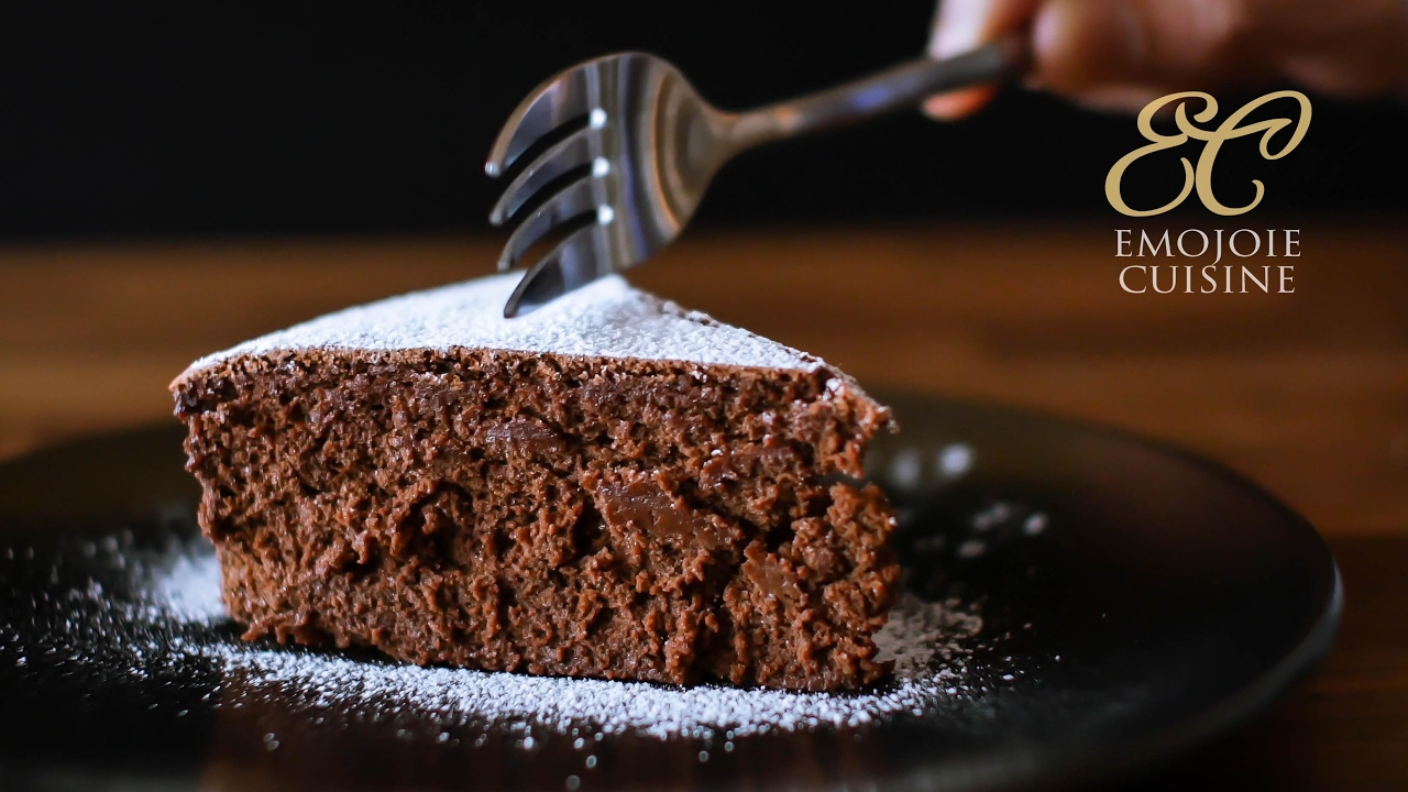 Flourless Chocolate Cake Gluten Free | 4 ingredients recipe