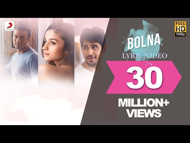 Bolna Lyric Video - Kapoor & Sons   Sidharth   Alia   Fawad   Arijit   Asees   Tanishk