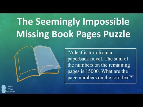 (Corrected) The Seemingly Impossible Missing Book Pages Puzzle From India