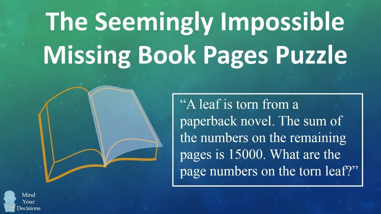 Corrected) The Seemingly Impossible Missing Book Pages Puzzle From ...