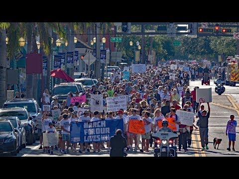 March for Our Lives Delray Beach Florida 4k Video