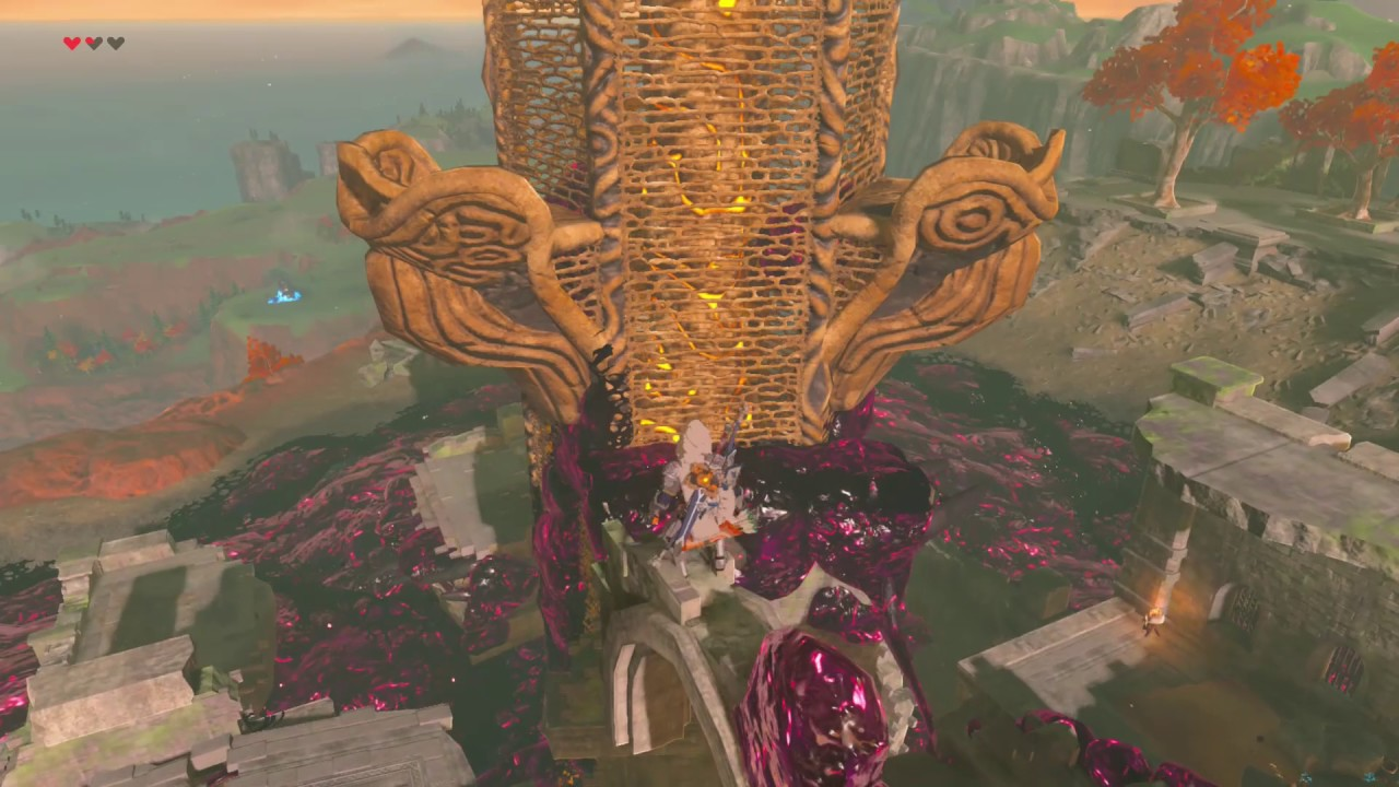 Breath Of The Wild Akkala Tower Location And Guide How To Get Past The Malice Around It