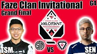 TSM vs Sentinels gąme 4 - Grand Finals   Faze Clan Valorant Invitational