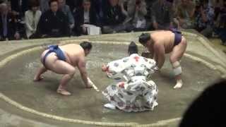 20150524 大相撲夏場所千秋楽 栃煌山 vs 隠岐の海.