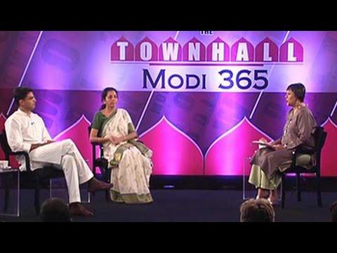 The Townhall: Nirmala Sitharaman vs Sachin Pilot on 365 days of Modi sarkaar