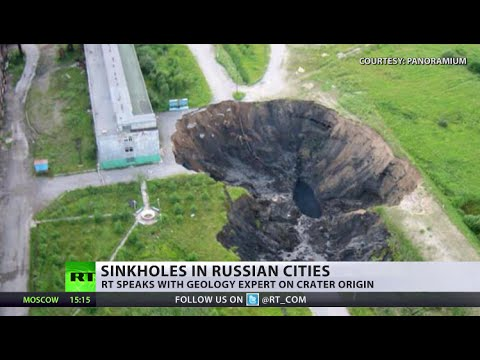 Mysterious sinkholes spreading across Russia's Urals