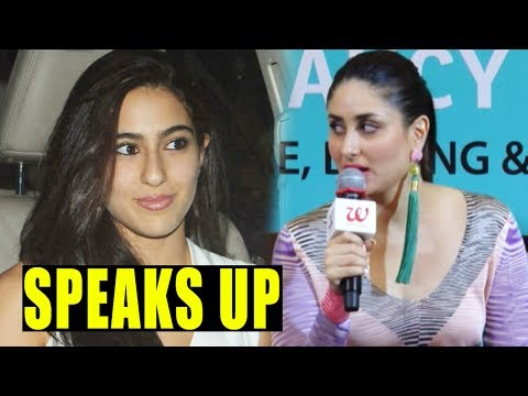 Kareena Kapoor Khan Speaks Up On Sara Ali Khan's Bollywood Debut