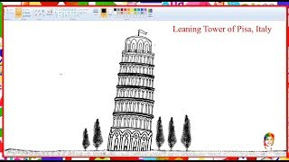 Tower of Pisa Italy - How to draw- Learn By Art