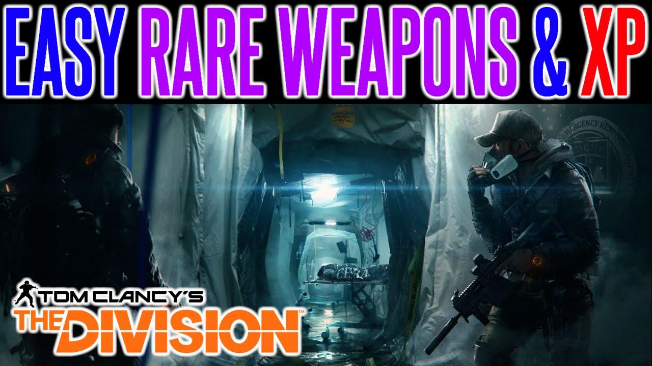 The Division EASY Rare Weapons & Items | SOLO Guide NO Dark Zone ...