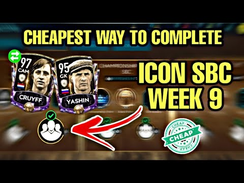 ICON SBC SOLUTIONS | CHEAPEST WAY TO GET ICON CRUYFF & YASHIN! FIFA MOBILE 20
