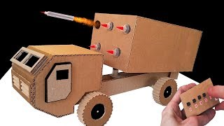 How to Make RC Rocket Launcher Truck from Cardboard