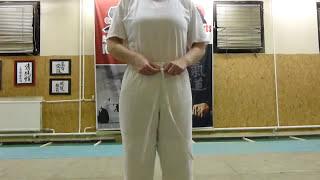 how to tie your aikido pants/ nadrág megkötése [TUTORIAL] Aikido dojo etiquette