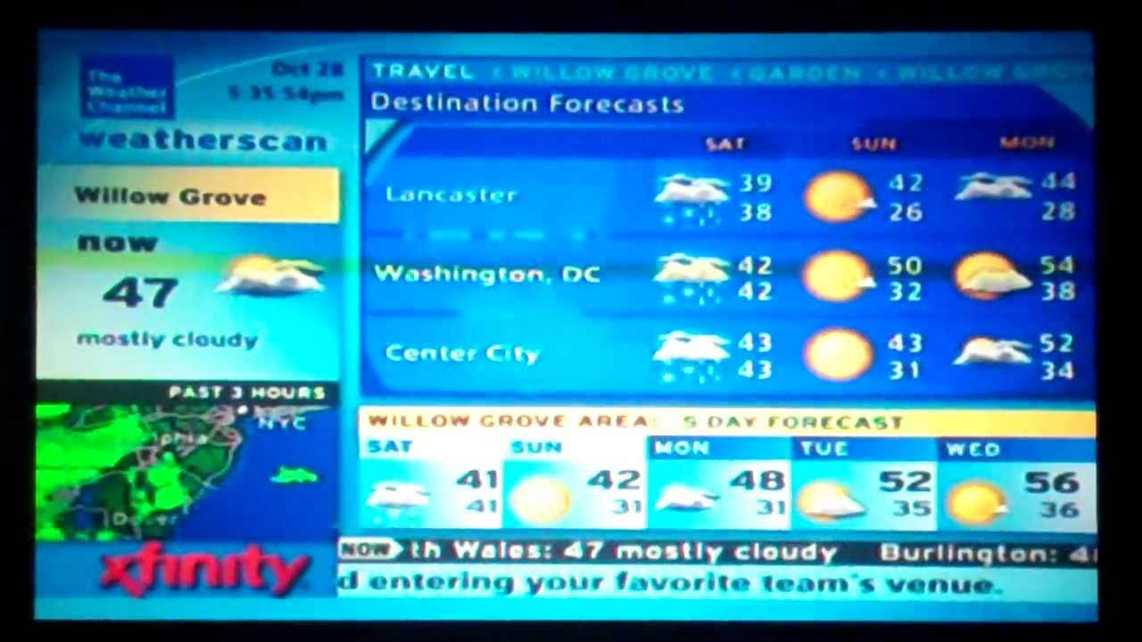 Local Weather Channel Weather Forecast : Xfinity weatherscan intellistar local weather channel