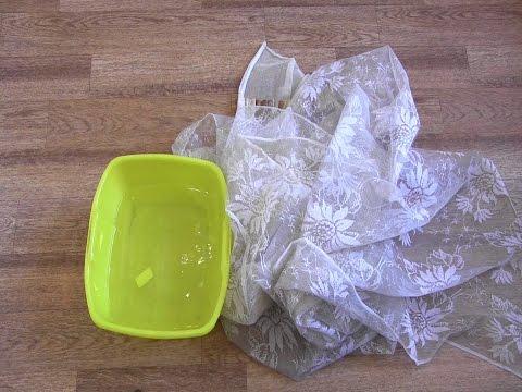 Как отстирать тюль с кухни