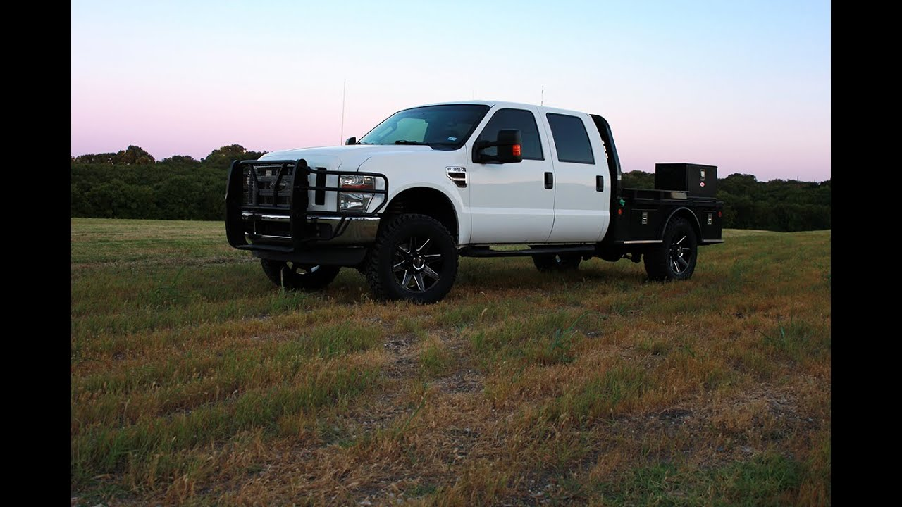 2016 Ford Super Duty >> 2009 Ford F-350 XLT Crew Cab 4x4 Custom Flatbed - YouTube