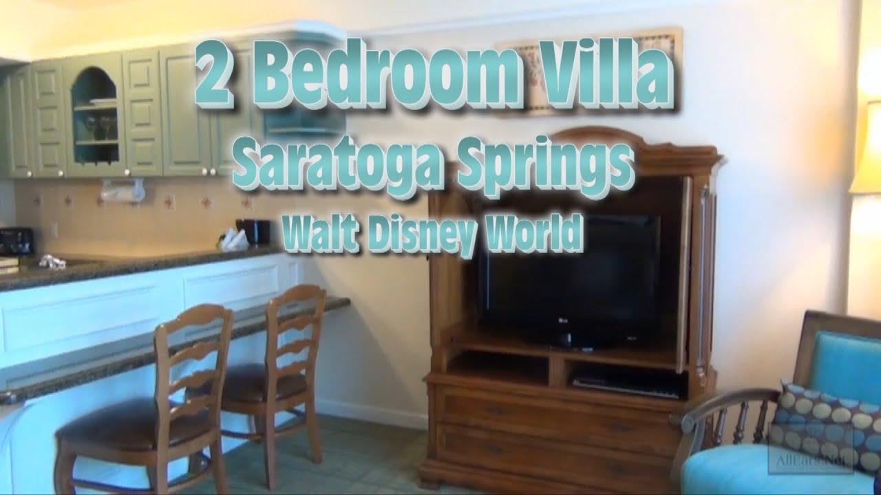Saratoga Springs 2 Bedroom Villa Tour Walt Disney World