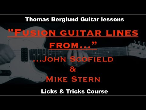 Fusion guitar lines from John Scofield & Mike Stern - Jazz Guitar lesson