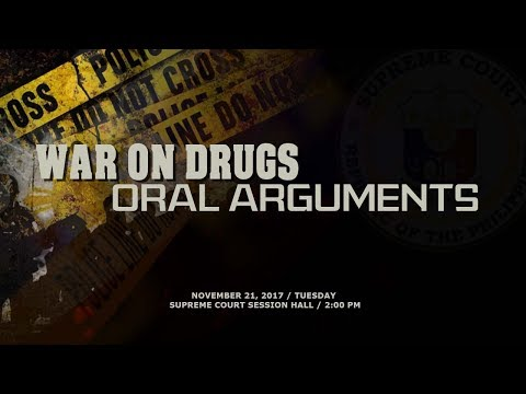 War on Drugs Oral Arguments