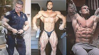 【筋トレ】アメリカ警察、きっちり筋肉!!! ♫ 曲名: Vena Cava - Noire [...