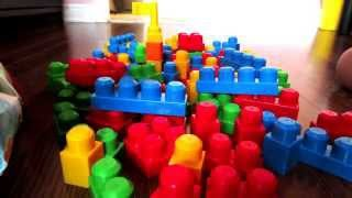 ABC123: Build HUGE Mega Bloks First Builder Toy Blocks Set Tower (Let's Play)