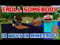 "Minecraft Videos ""Minecraft Trolling 10 funniest ways to troll somebody in Minecraft"" Top Animation"