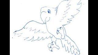Parrot. How to draw a easy? (Попугай. Как нарисовать просто?)