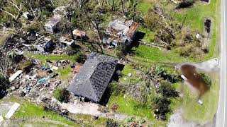 Hurricane Michael Aerial Damage Footage from Callaway Florida