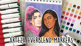Trying ARTEZA EVERBLEND MARKERS... New Favorites? 🤔