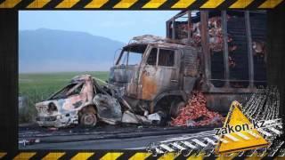 В Алматинской области в ДТП сгорели два человека