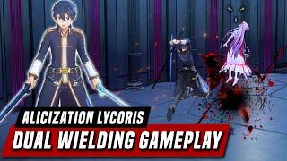 Dual Wield Kirito vs Administrator Gameplay Reveal - Sword Art Online: Alicization Lycoris