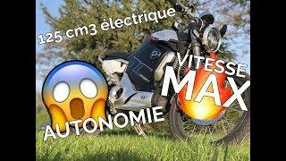 MOTO 125 ÉLECTRIQUE - La SUPER SOCO TC MAX en DÉTAILS ! (AUTONOMIE , VITESSE MAX ... )