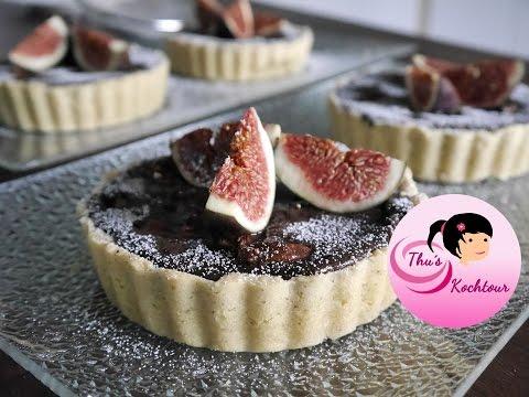 [ENG SUB] Fig chocolate tart/ Feigen Schoko Tarte
