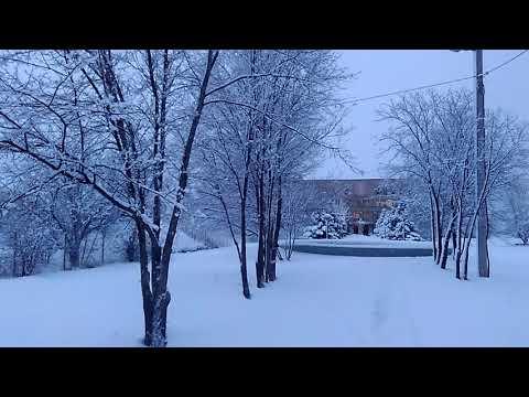 Снежная зима в Волжском, Волгоградская обл, декабрь 2018
