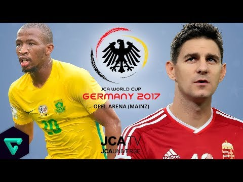 South Africa vs. Hungary | Group D | 2017 JCA World Cup Germany | PES 2017