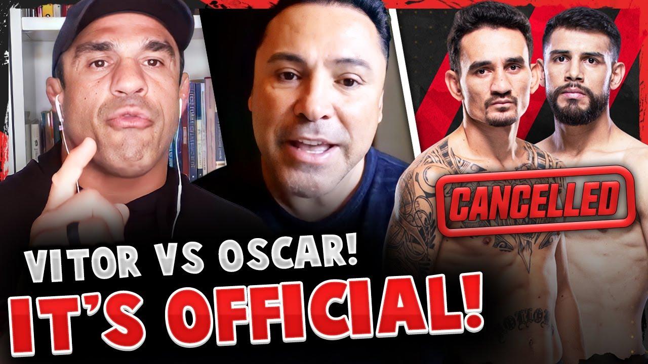 BREAKING! Vitor Belfort vs Oscar De La Hoya OFFICIAL! Max Holloway vs Yair Rodriguez CANCELLED!
