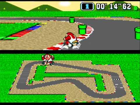 [TAS] SNES Super Mario Kart - Mario Circuit 1 in 0'54