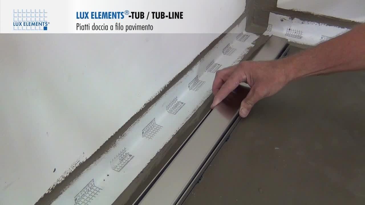 Montaggio lux elements piatti doccia a filo pavimento tub for Siphon douche italienne inox