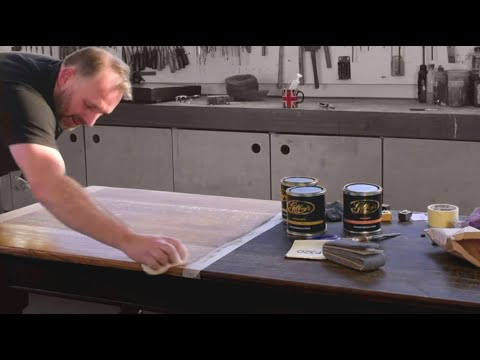 How To Restore Old Wooden Furniture; Strip And Wax Polish (English Restorer)