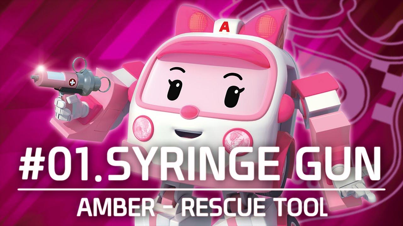 Amber rescue tool 01 syringe gun robocar poli youtube - Robocar poli ambre ...