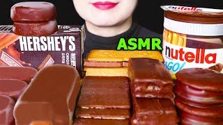 ASMR 초콜릿 아이스크림 티코 허쉬 초코 케이크 파이…