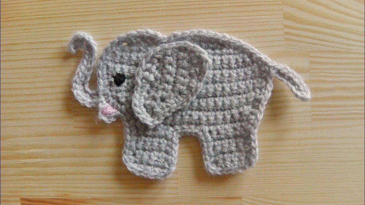 Elefant Aufnäher Häkeln Youtube