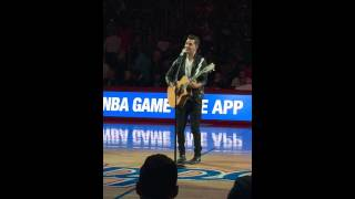 "Andy Grammer ""Honey I'm Good""/""Keep Your Head Up,"" Live at Staples Center, 4/7/15"