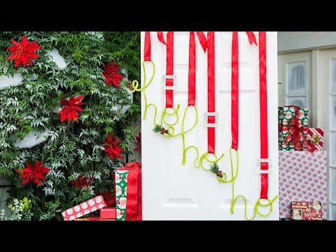 Diy Christmas Door Hang Home Family