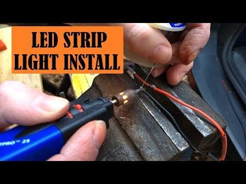HOW TO INSTALL 12v LED STRIP LIGHT IN CAMPER VAN