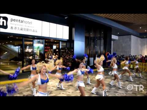Indianapolis Colts Cheerleaders in Hong Kong